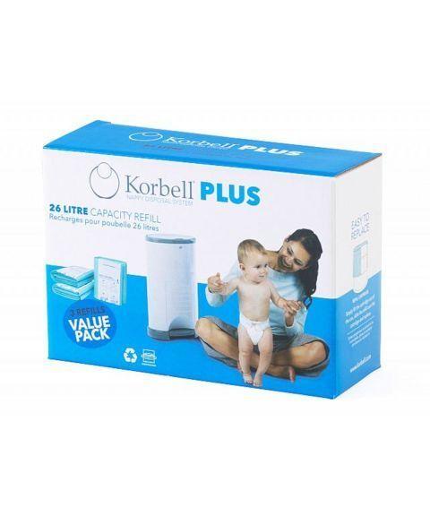 Refill poser til Korbell Plus (3-pakning)