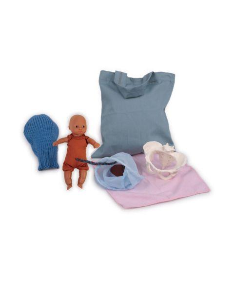 Demonstrasjonsdukke for fødsel og graviditet, mini modell (6 deler)