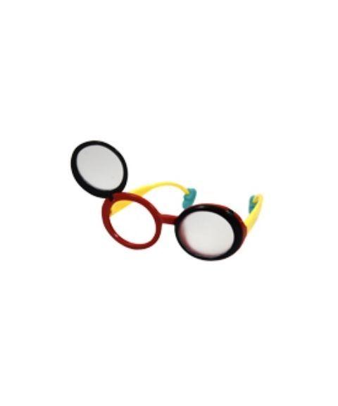 Flip-Up okluder brille for øyetildekking, frostet
