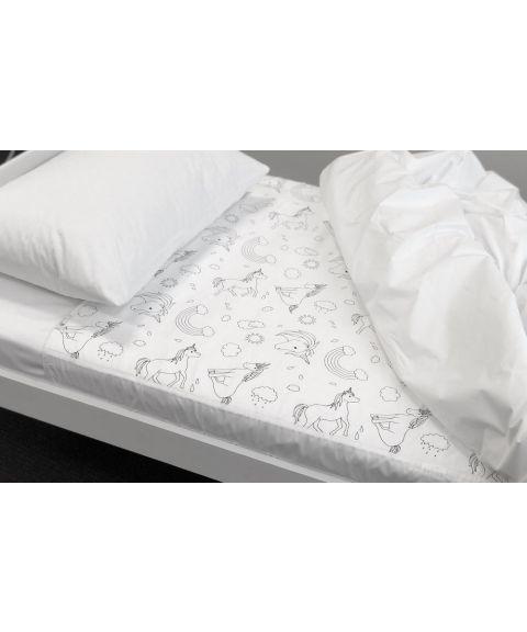 Brolly Sheets madrassbeskytter, enhjørninger