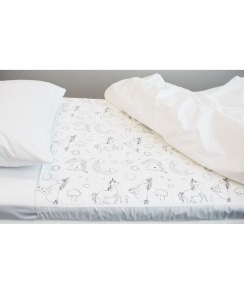 Brolly Sheets madrassbeskytter for sengevæting, enhjørninger
