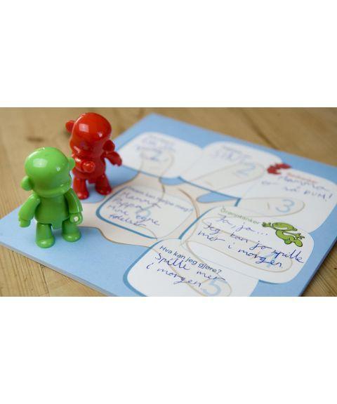 Psykologisk førstehjelp, ekstra figurer (rød + grønn)