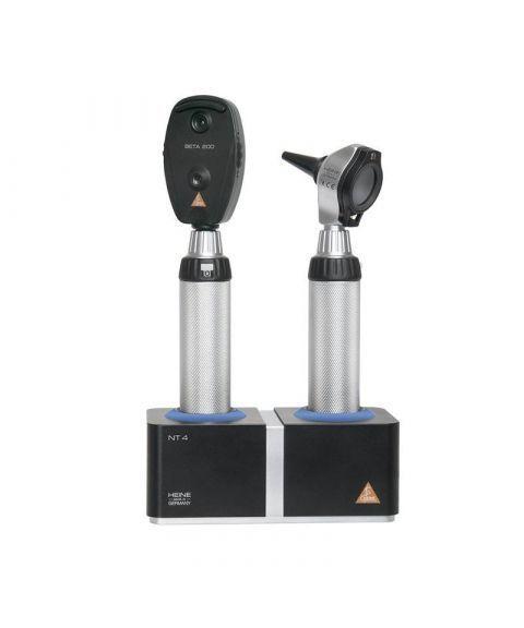 Heine Beta 200 otoskop + oftalmoskop med ladestasjon (fiber, halogen, 3X)