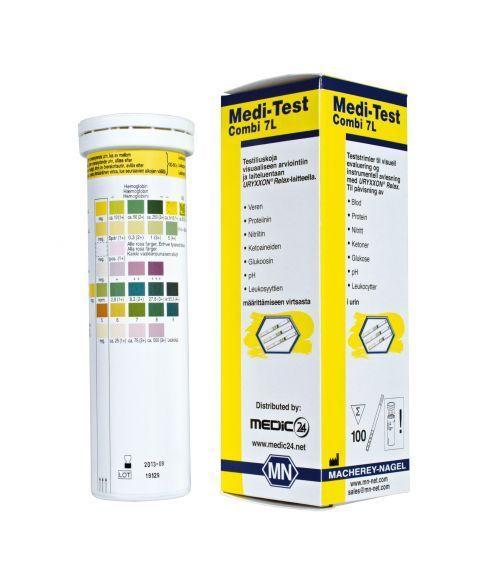 Medi-Test urinstrimmel, 7 parameter (100 stk)