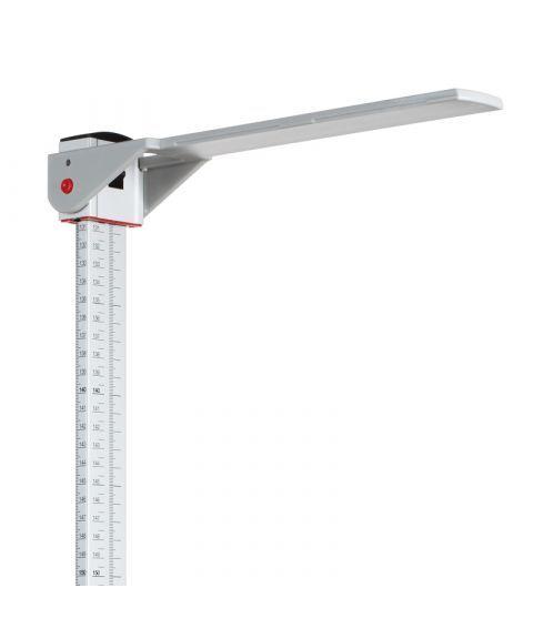Seca 222 høydemåler på skinne med fotstøtte