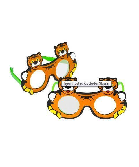 Good-Lite Tiger okluder briller, frostet (2 stk)